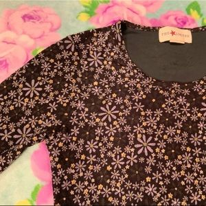 Limited Ditsy Floral 90's Mesh Long Sleeve Top
